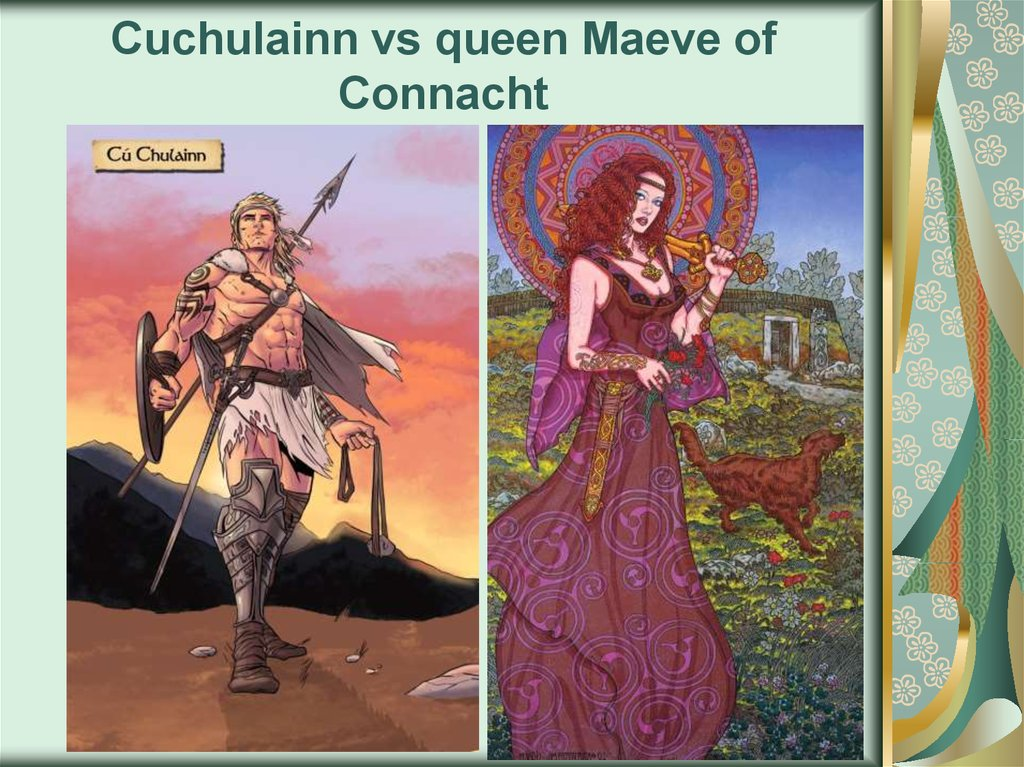 Cuchulainn vs queen Maeve of Connacht