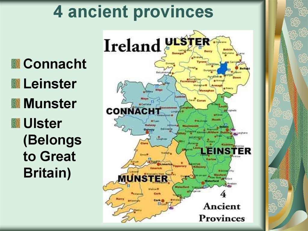 4 ancient provinces