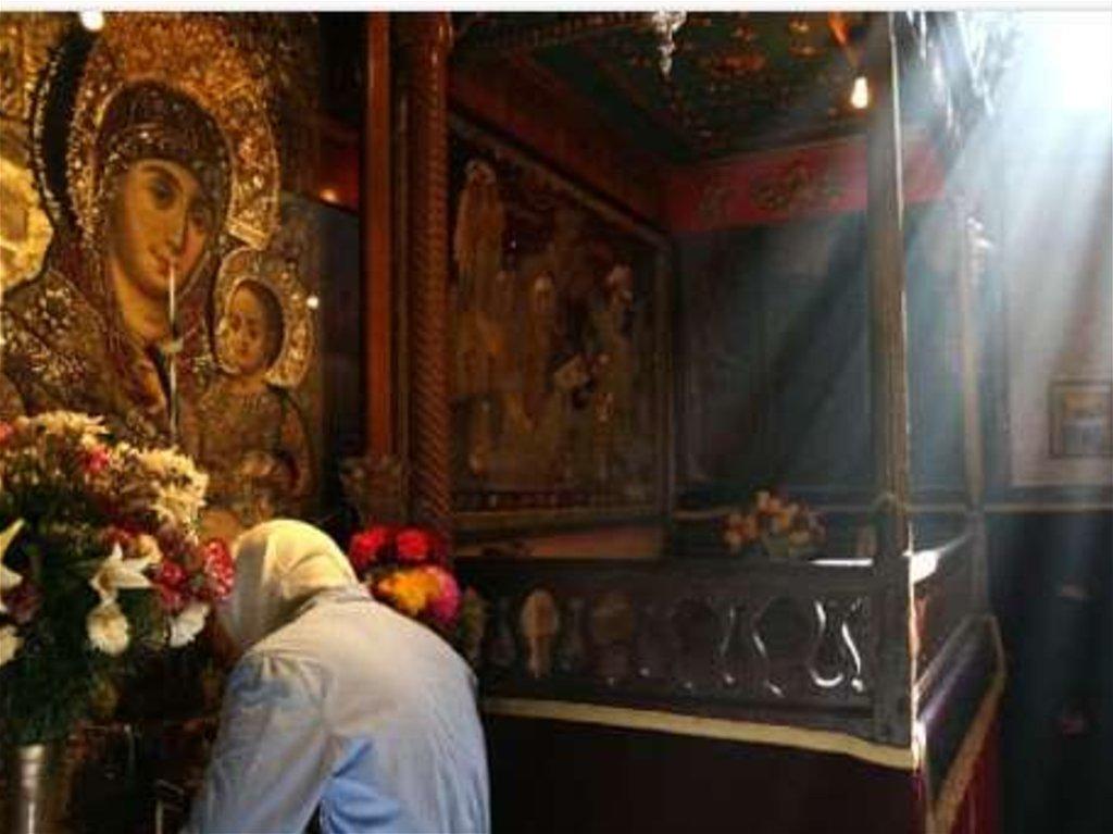 Рисунок молитва перед иконой