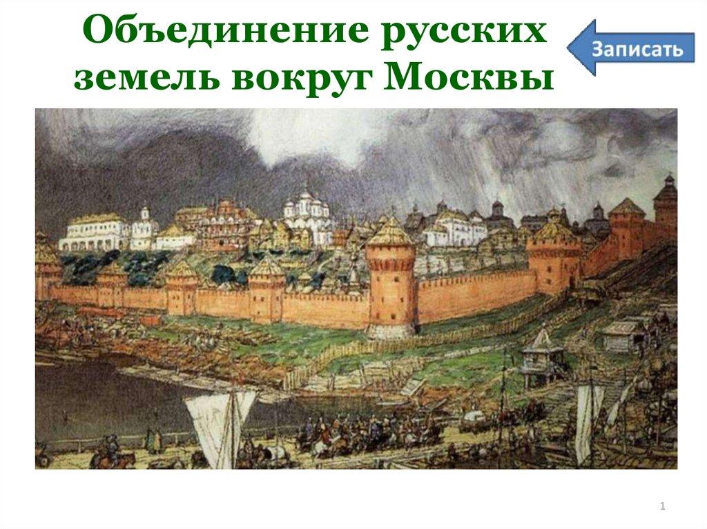 Картинки объединение русских земель вокруг москвы