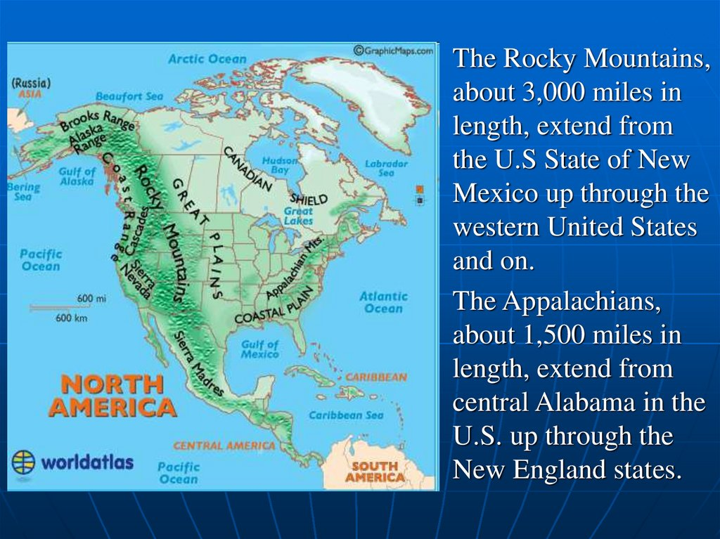 Image of: The Usa Geography Physical Features Online Presentation