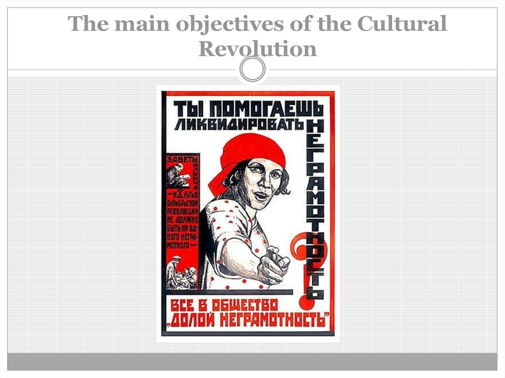 The main objectives of the Cultural Revolution