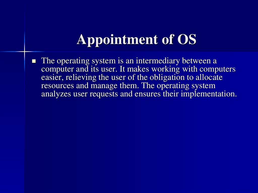 Appointment of OS