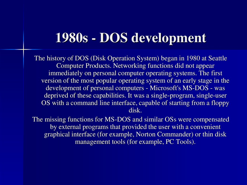 1980s - DOS development