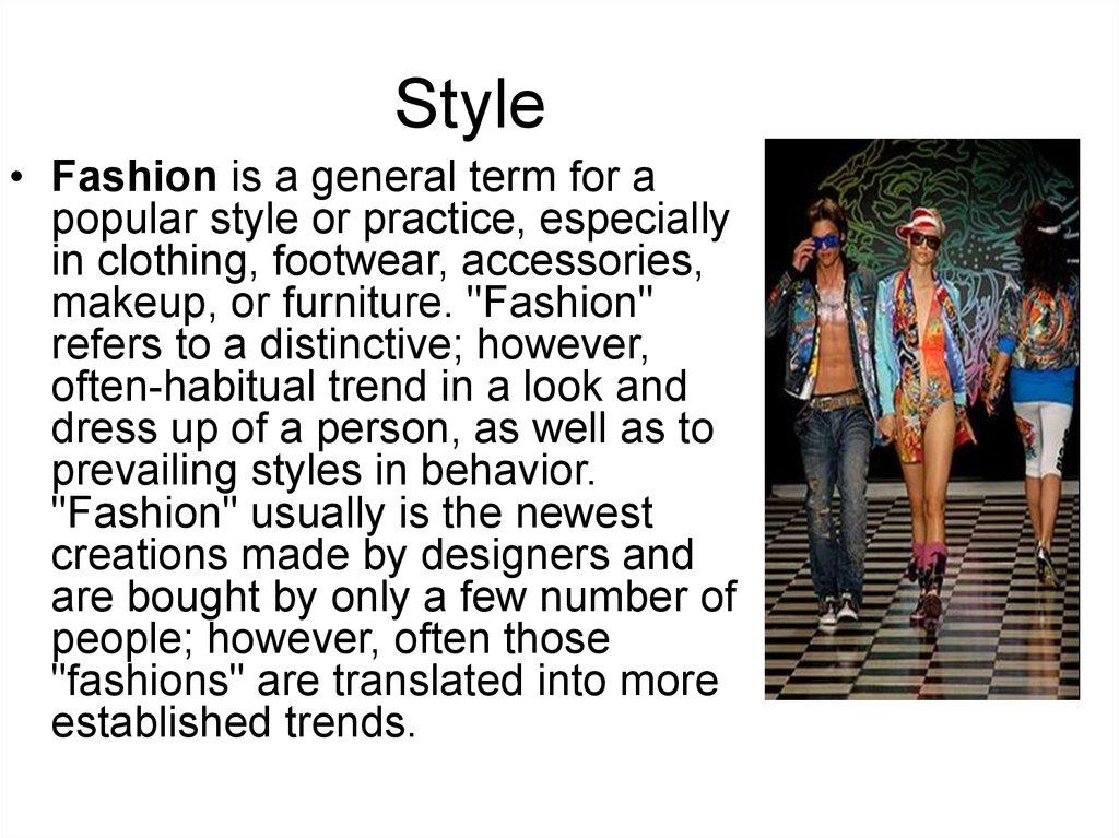 Fashion Style Online Presentation