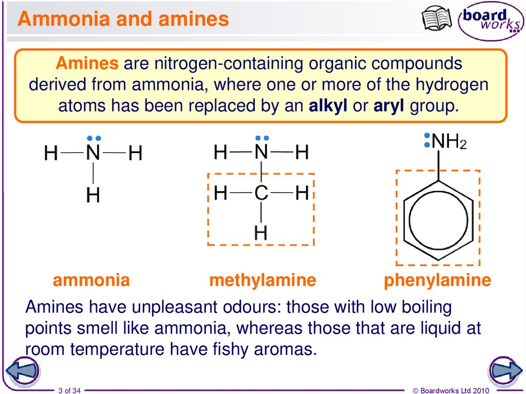 Ammonia and amines