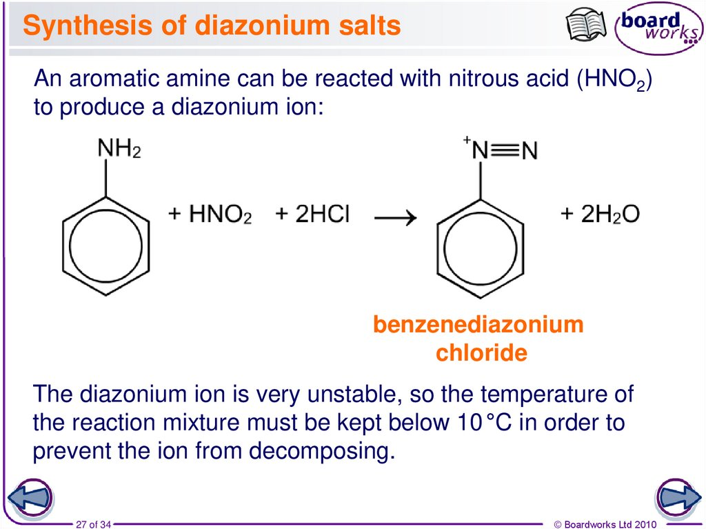 Synthesis of diazonium salts