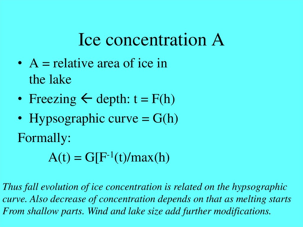 Ice concentration A