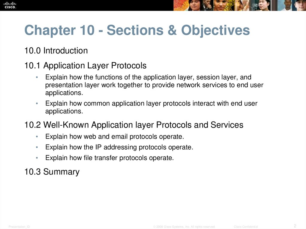 Chapter 10 - Sections & Objectives