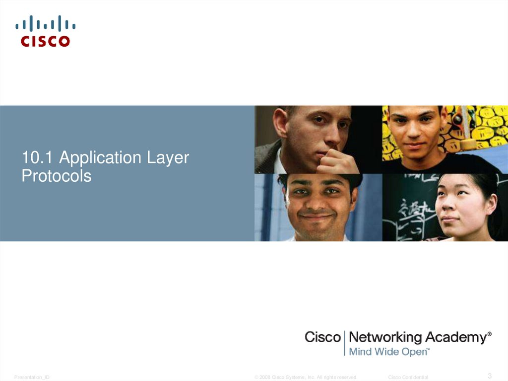 10.1 Application Layer Protocols