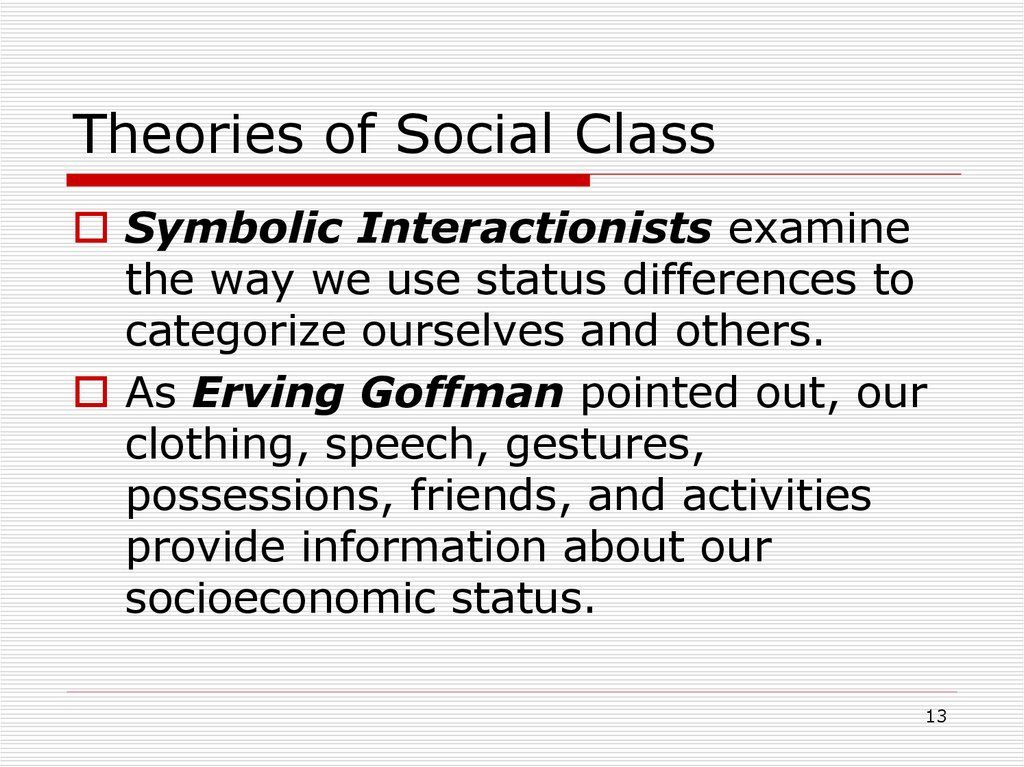 Theories of Social Class