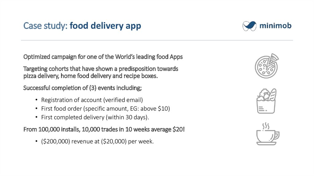 Case study: food delivery app
