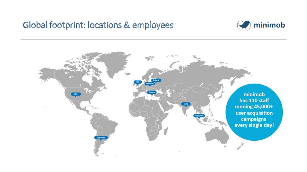 Global footprint: locations & employees