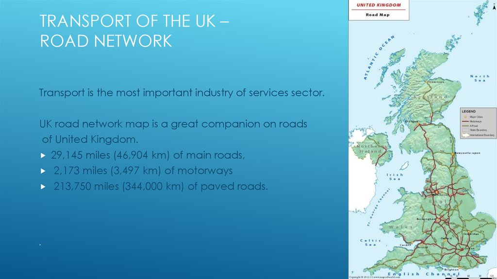 Transport of the UK – ROAD NETWORK