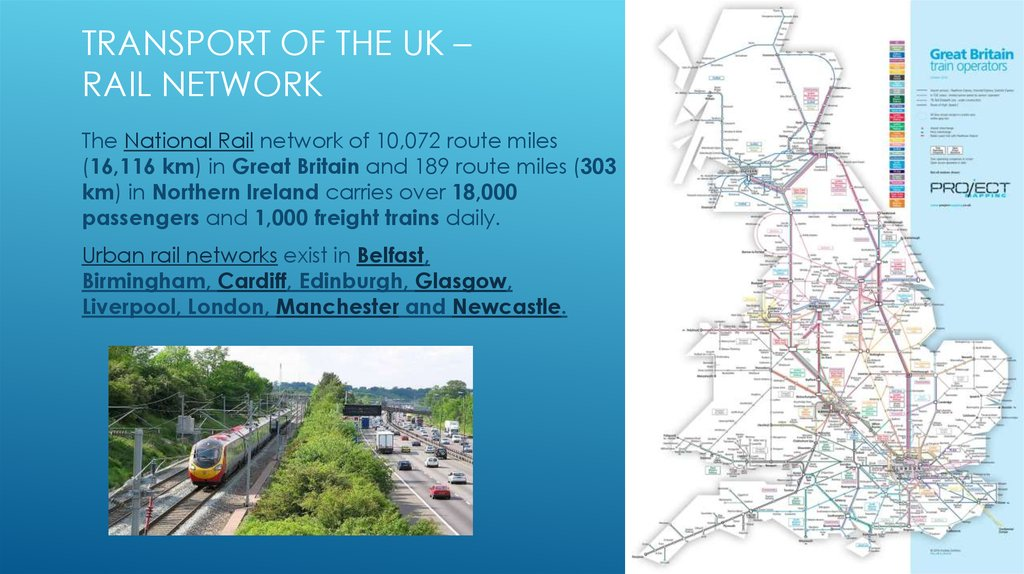 Transport of the UK – Rail network