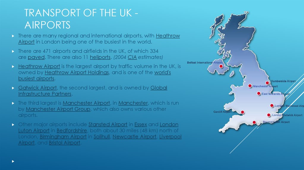 Transport of the UK - AIRPORTS