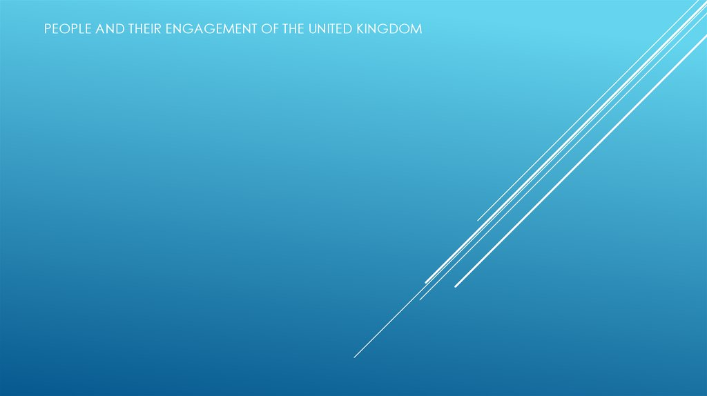 People and their engagement of the United Kingdom