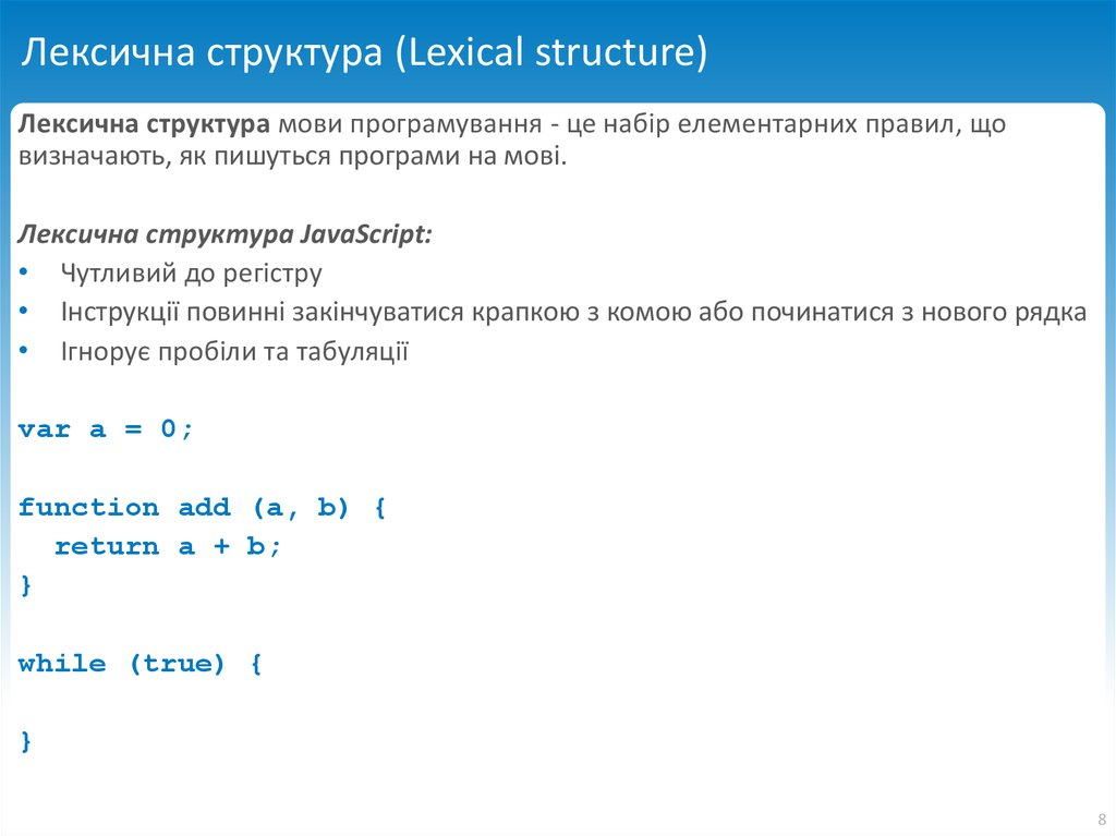 Лексична структура (Lexical structure)