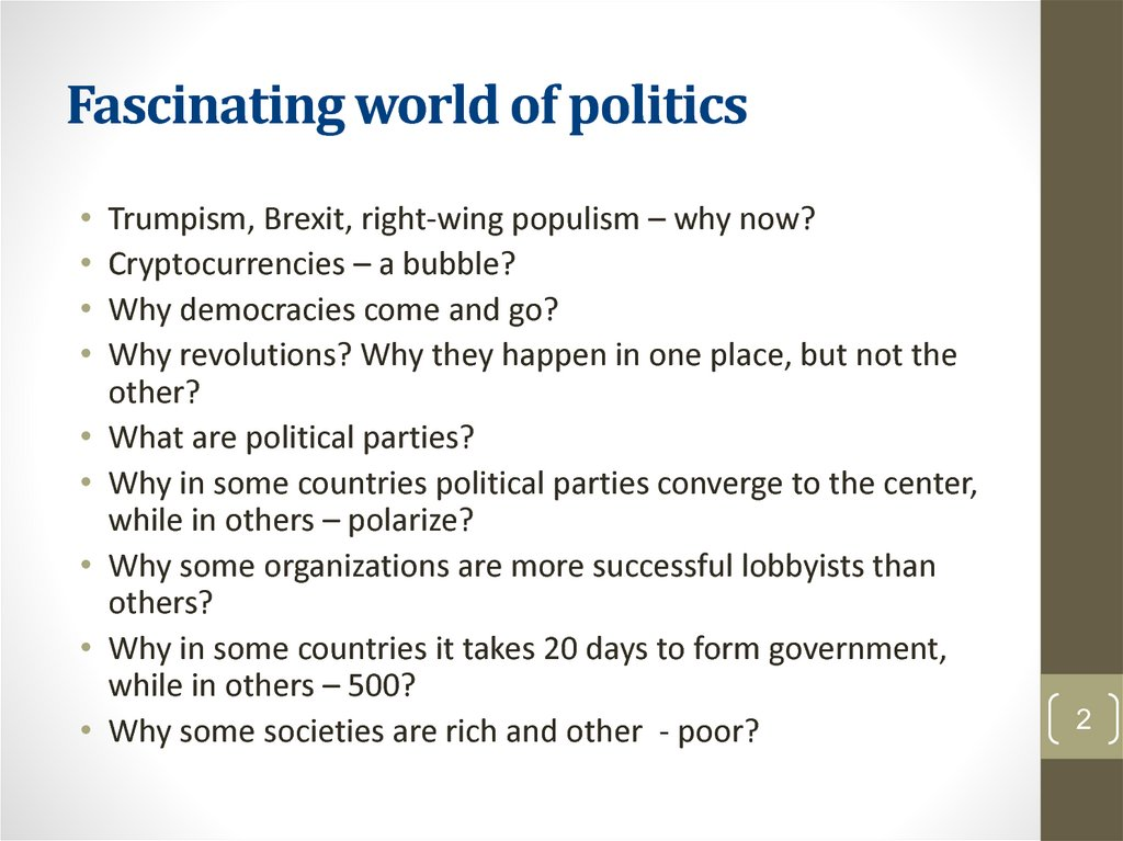 Fascinating world of politics