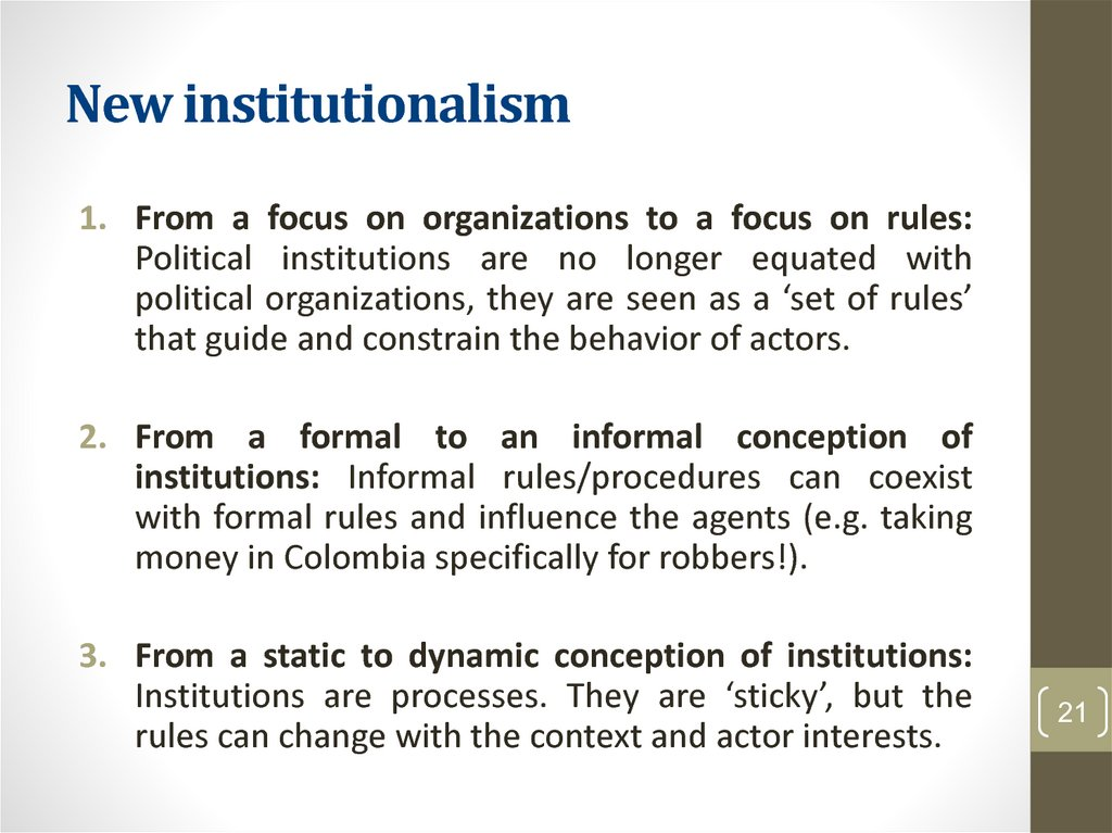 New institutionalism