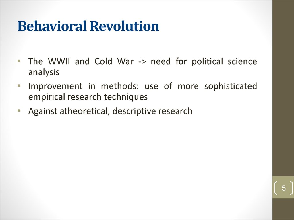 Behavioral Revolution