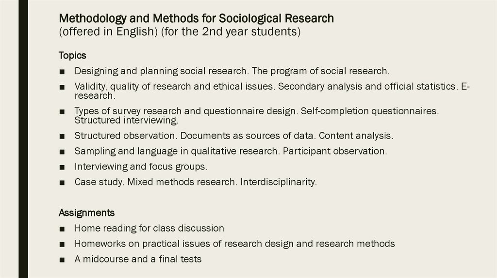 Planning And Designing Social Research Online Presentation