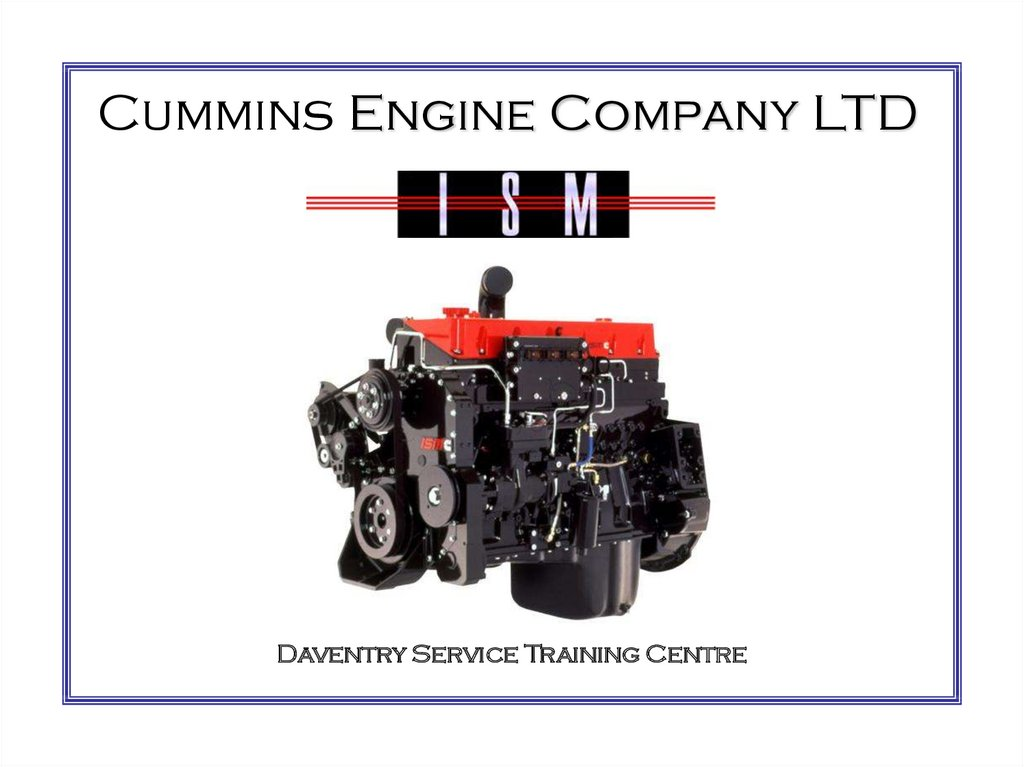 Cummins Engine Company LTD