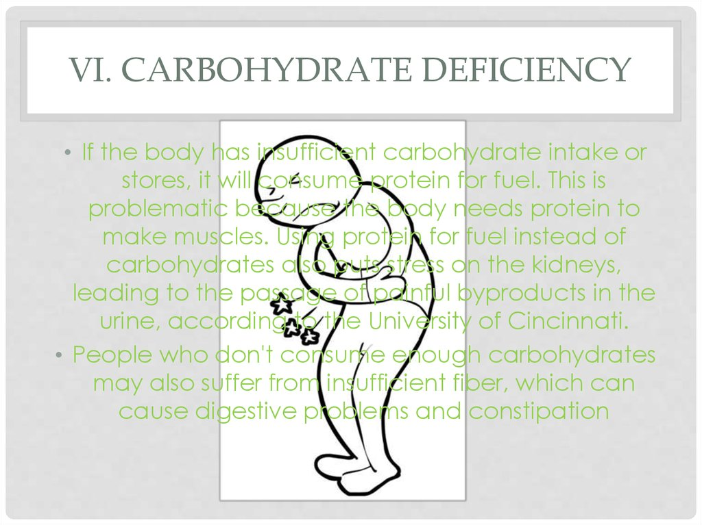 VI. Carbohydrate deficiency