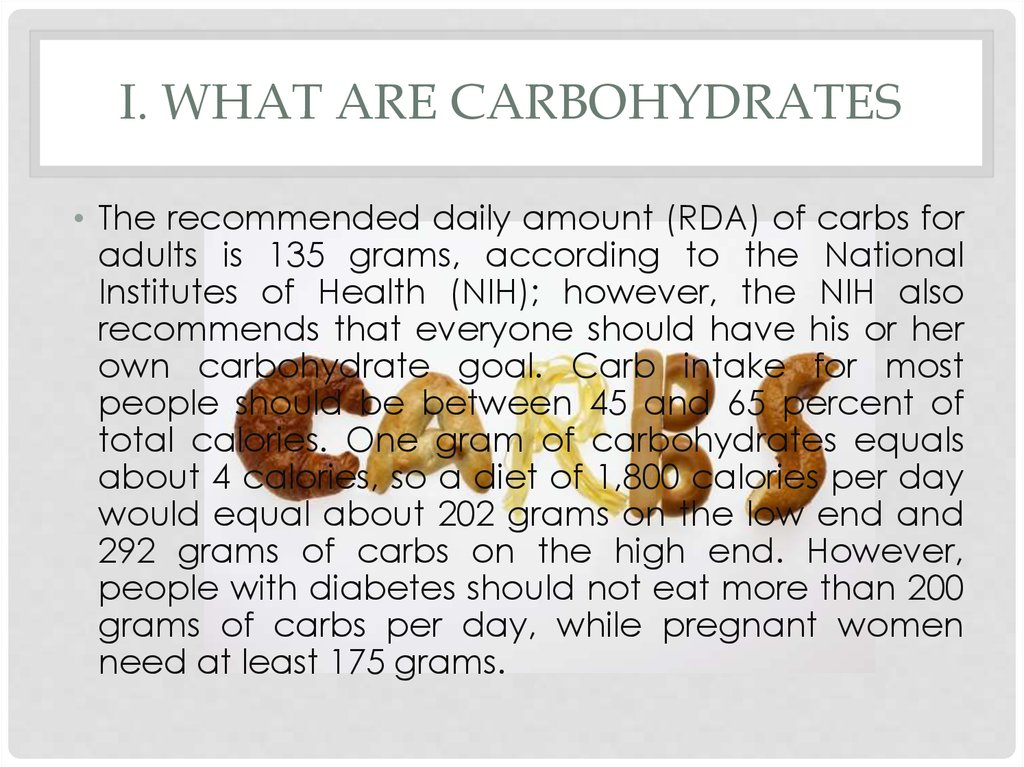 I. What Are Carbohydrates