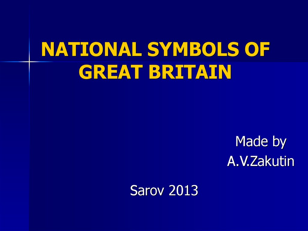 NATIONAL SYMBOLS OF GREAT BRITAIN