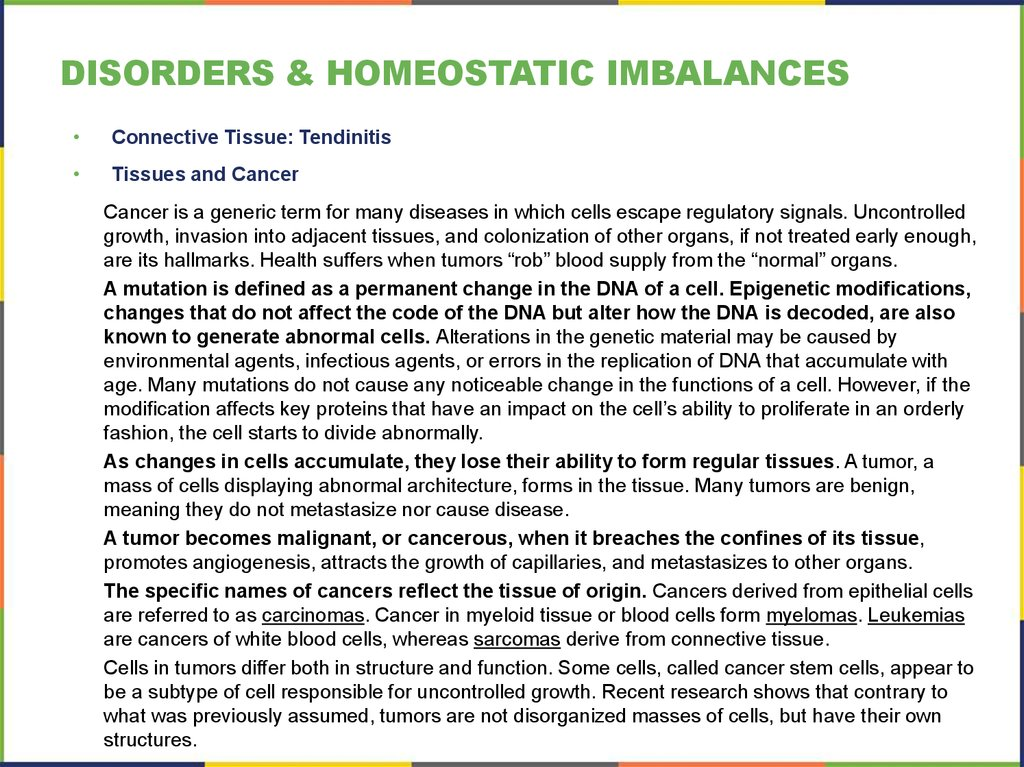disorders & homeostatic imbalances