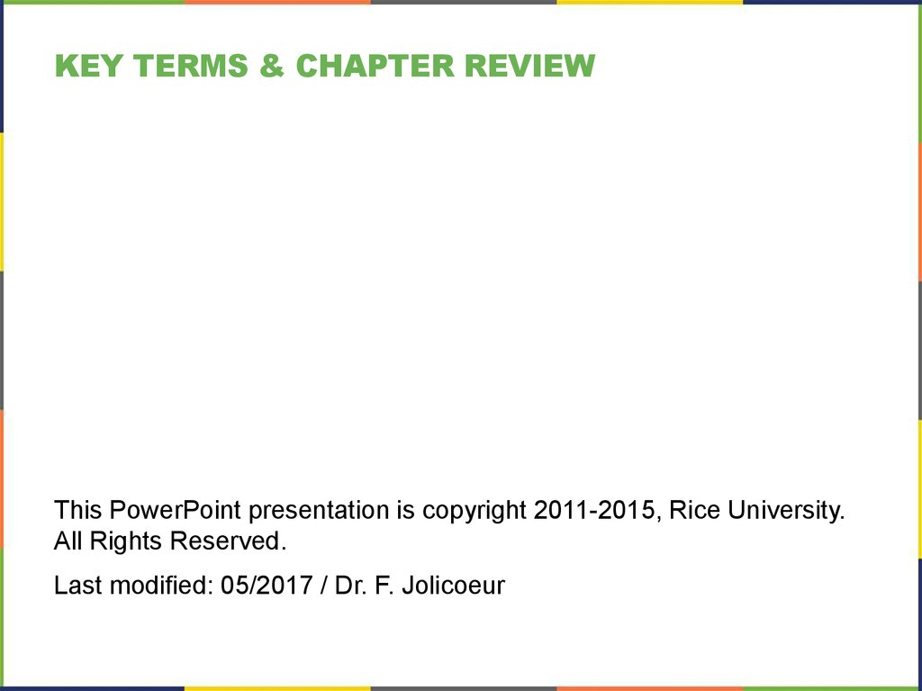key terms & CHAPTER Review