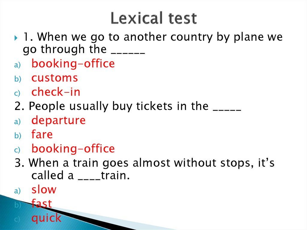 Lexical test
