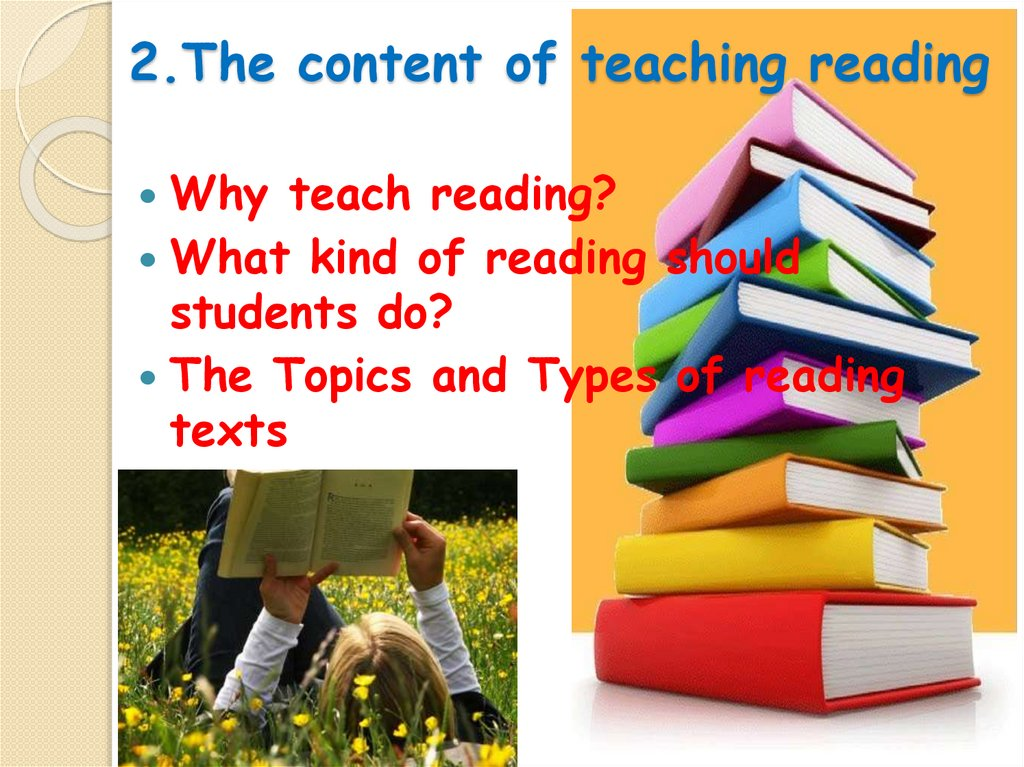 2.The content of teaching reading
