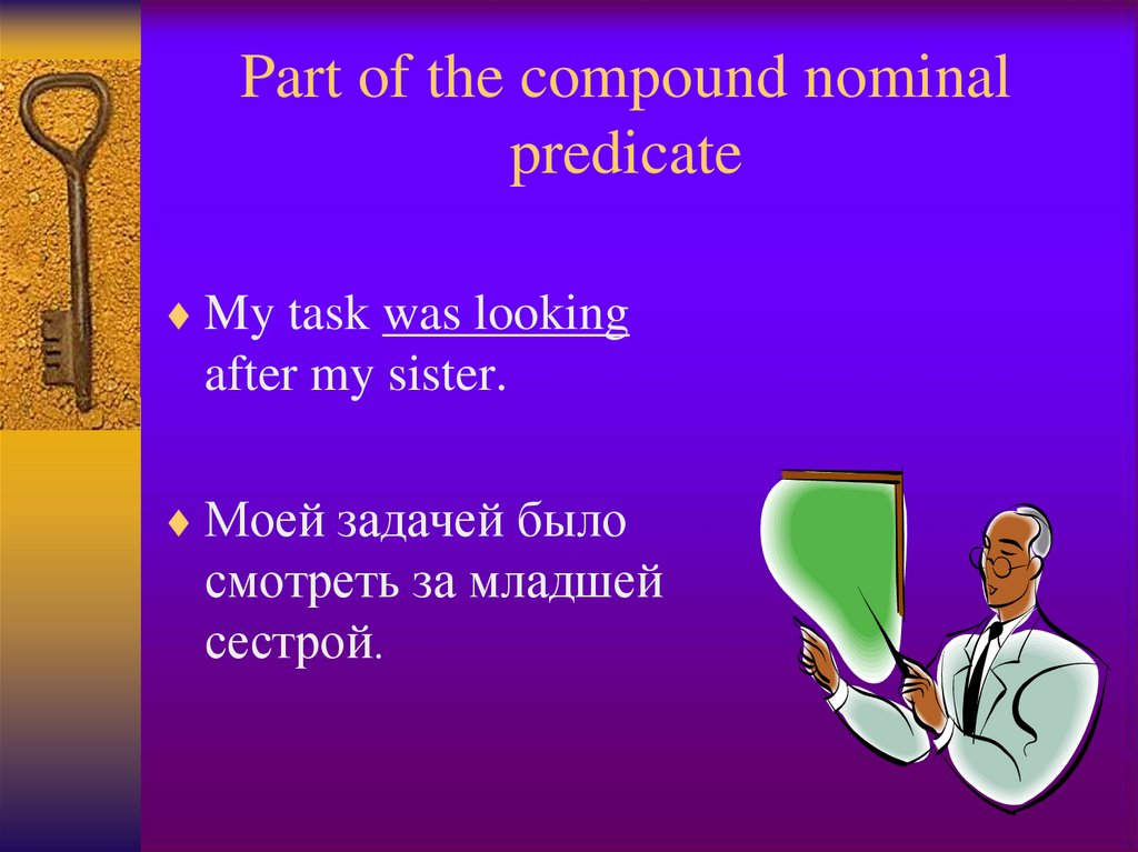 Part of the compound nominal predicate