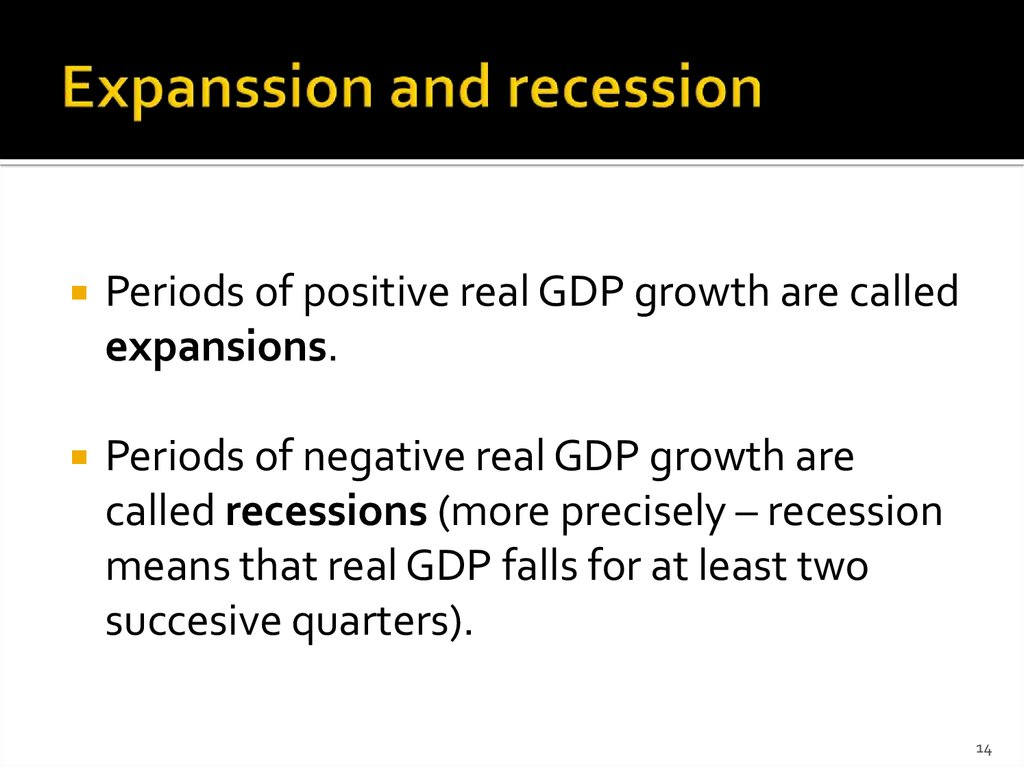 Expanssion and recession