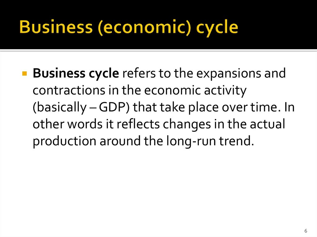 Business (economic) cycle