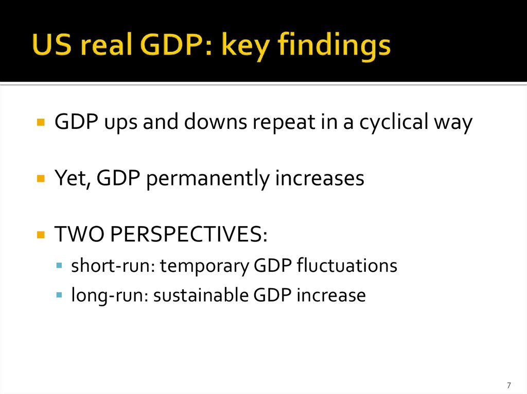 US real GDP: key findings