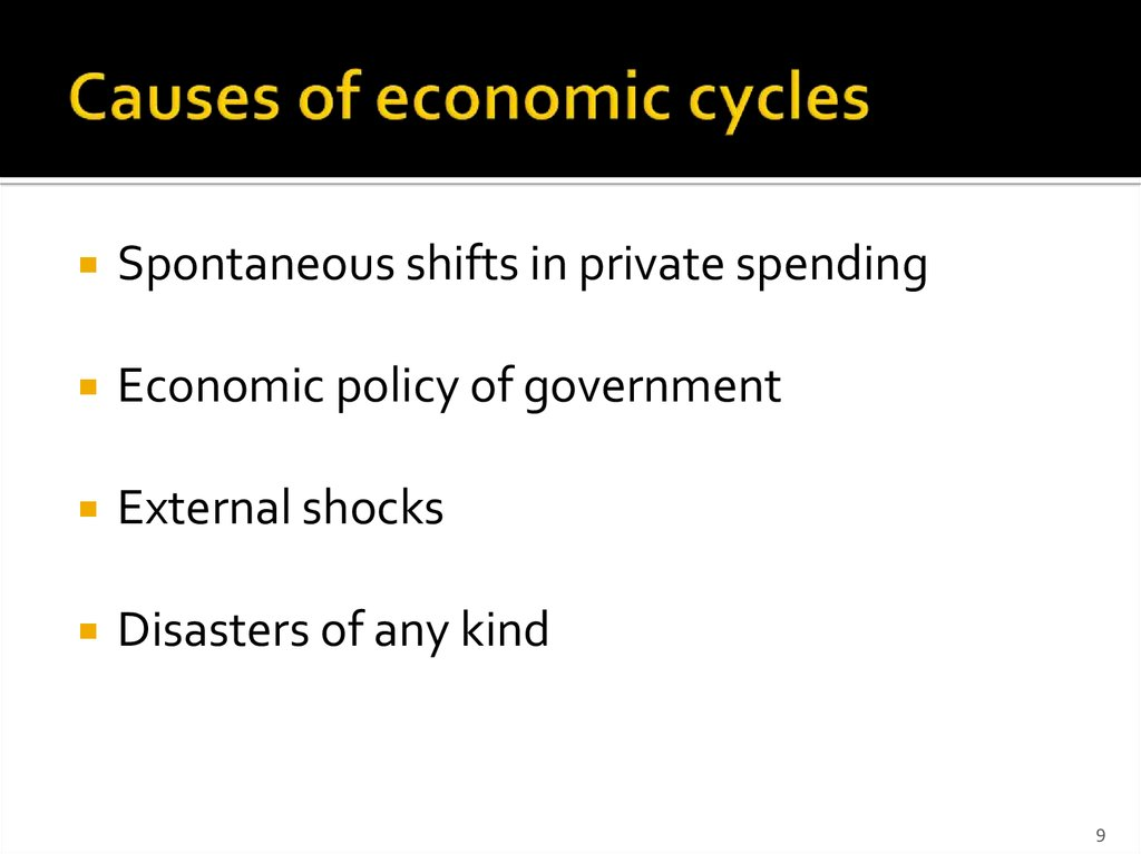 Causes of economic cycles