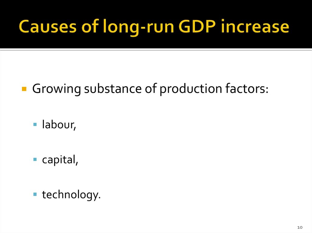 Causes of long-run GDP increase