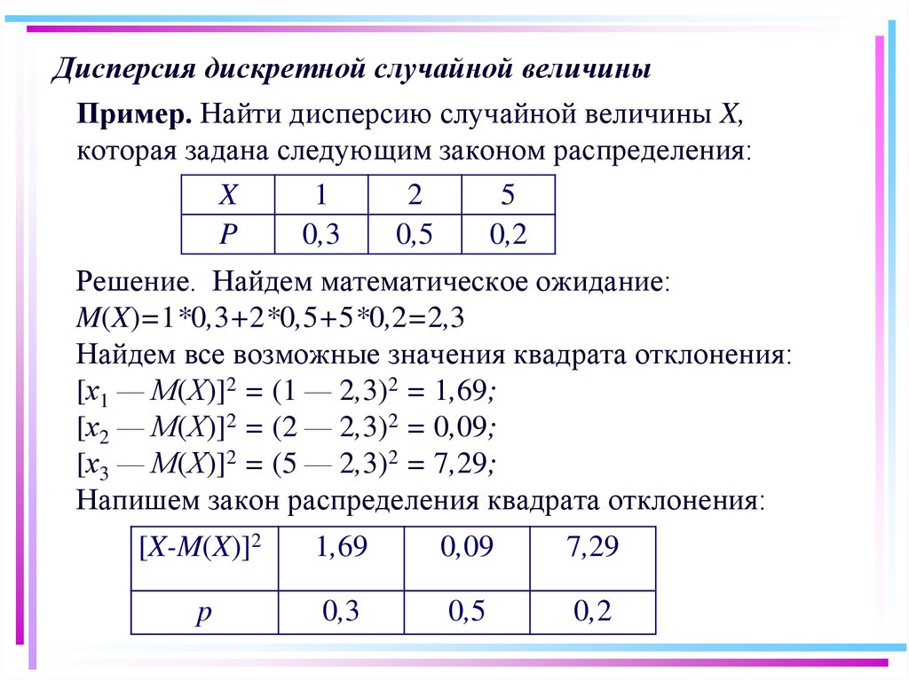 Примеры решения задач по случайной дискретной величине с1 по физике задачи с решением