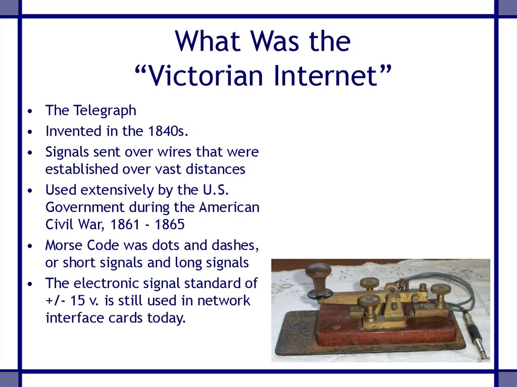 "What Was the ""Victorian Internet"""