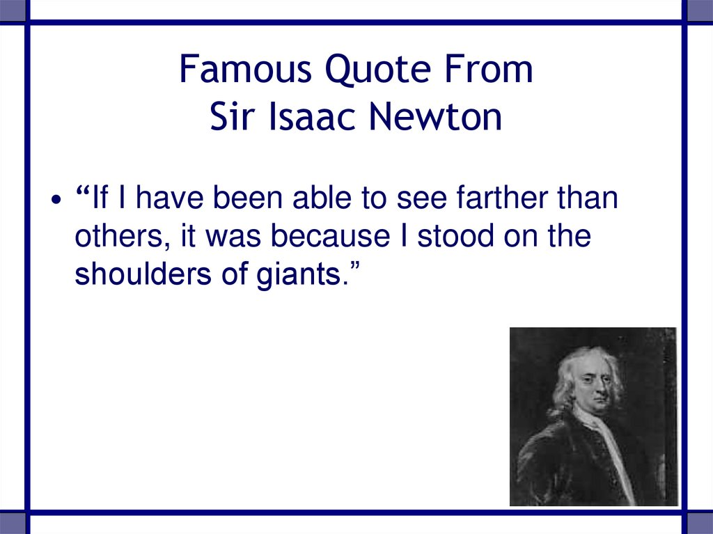 Famous Quote From Sir Isaac Newton