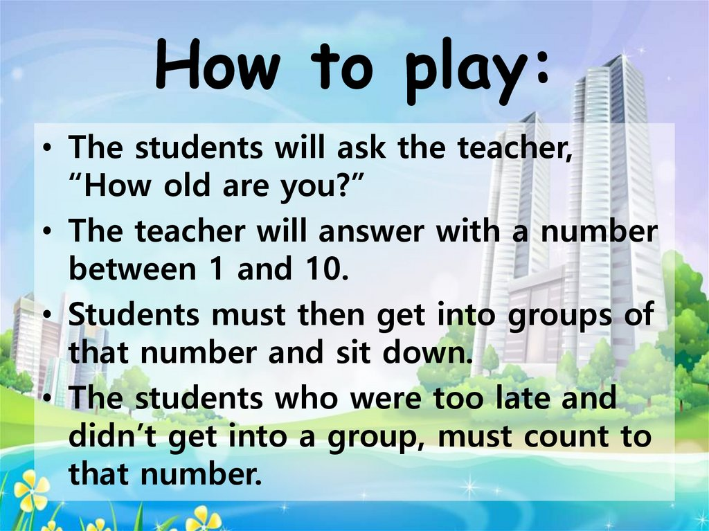 Game How Old Are You Online Presentation