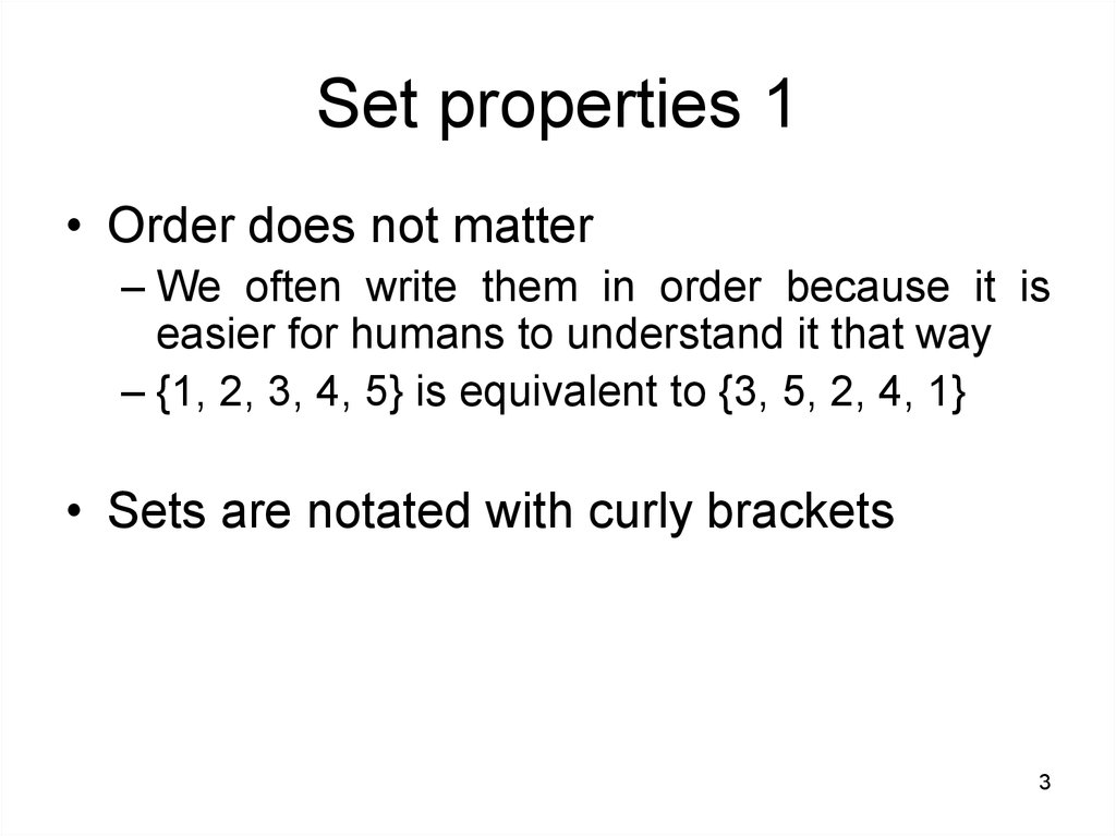 Set properties 1