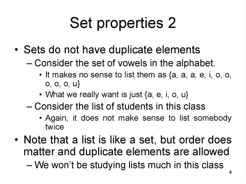 Set properties 2