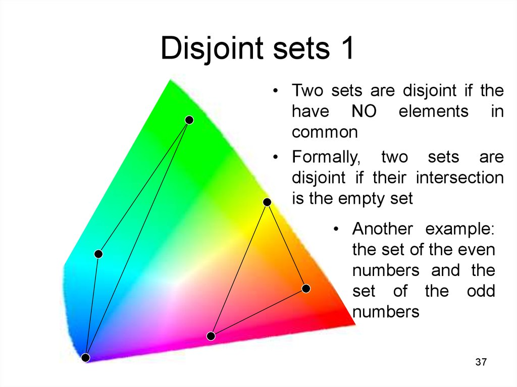 Disjoint sets 1