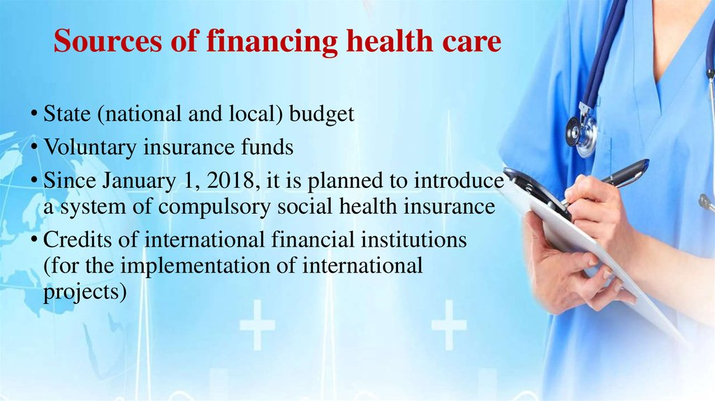 Sources of financing health care