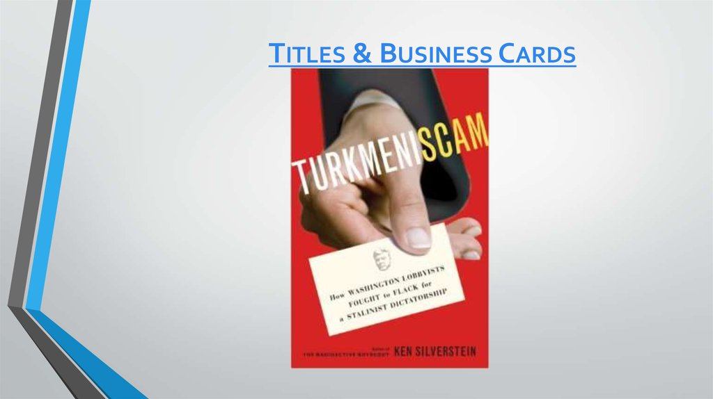 Titles & Business Cards