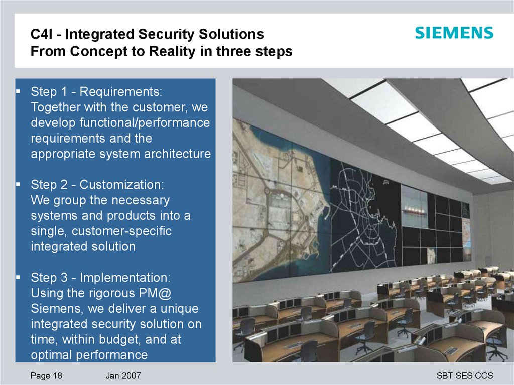 C4I - Integrated Security Solutions Customer Operational Benefits